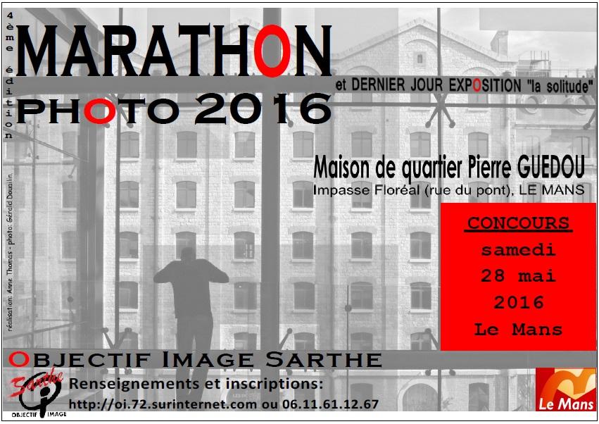 2016 05 28 MARATHON expo la solitude guédou affiche